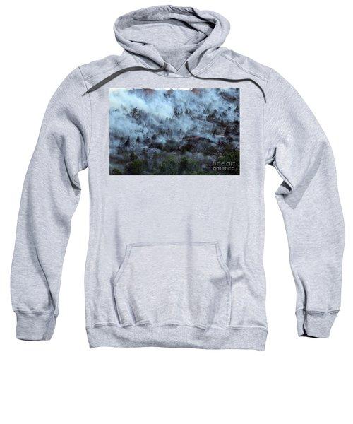 A Smoky Slope On White Draw Fire Sweatshirt
