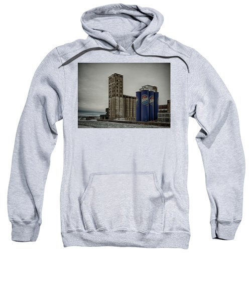 A Tall Blue Six-pack Sweatshirt