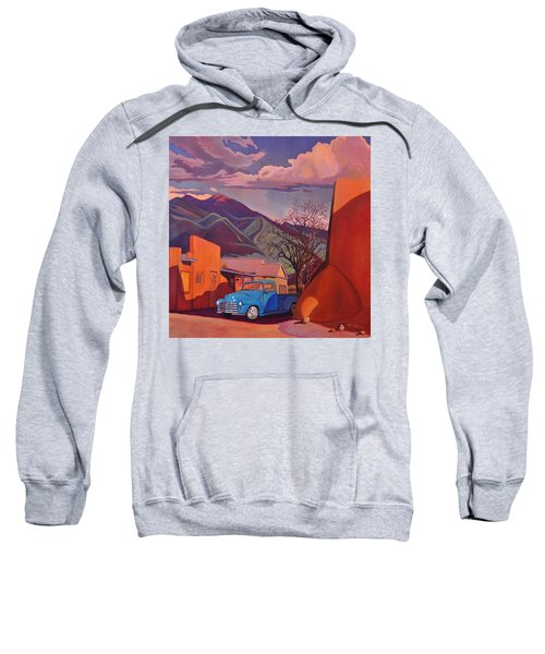 A Teal Truck In Taos Sweatshirt
