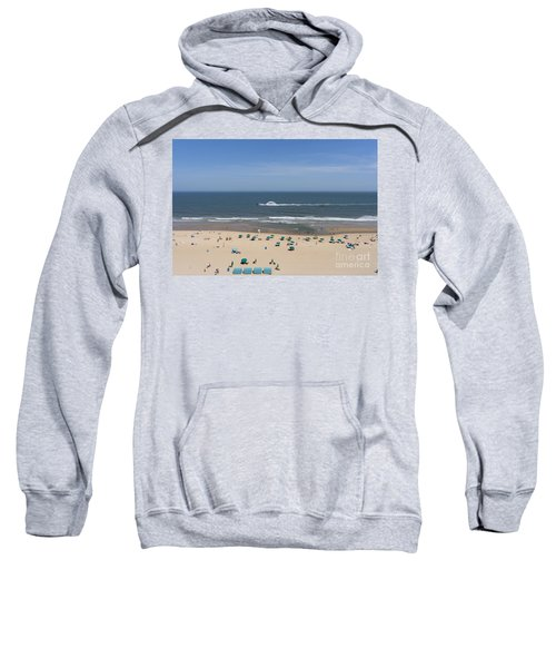 A Touring Speedboat Passes By Shore In Ocean City Maryland Sweatshirt