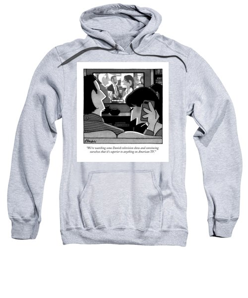 A Woman Speaks On The Phone Sweatshirt