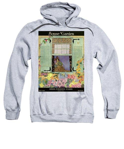 A Woman With A Fan Sweatshirt