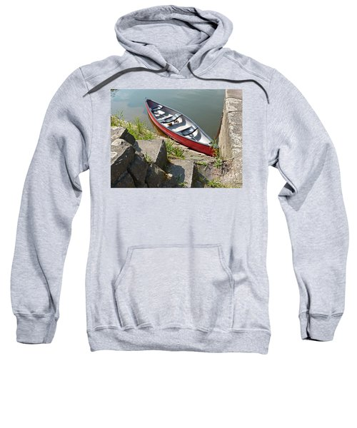 Abandoned Boat At The Quay Sweatshirt