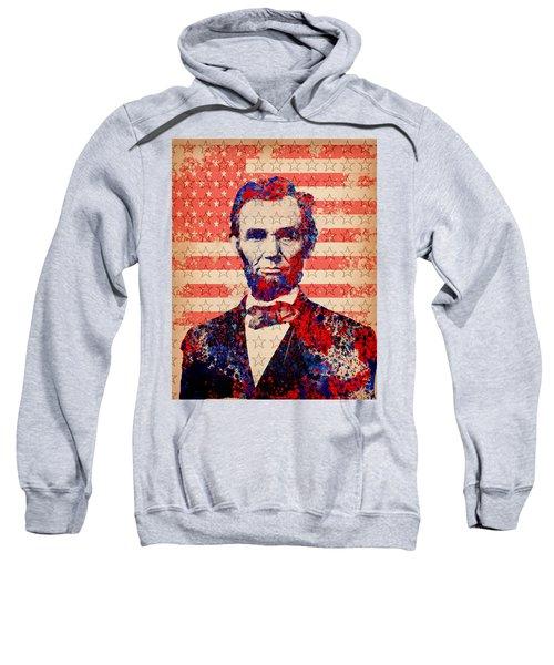 Abraham Lincoln Pop Art 2 Sweatshirt