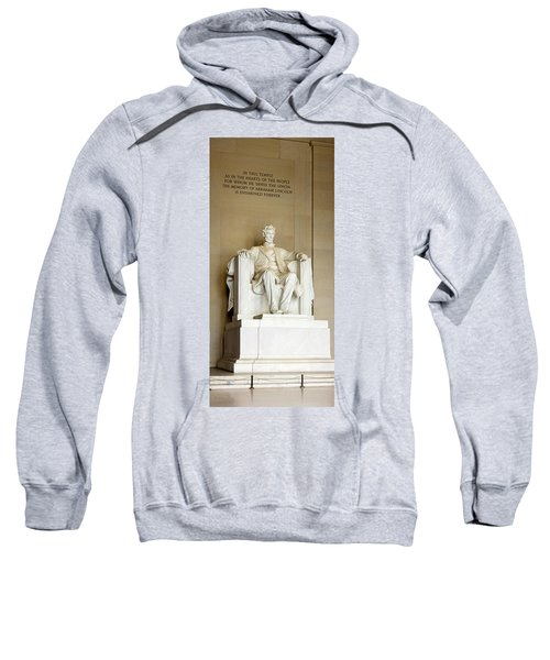 Abraham Lincolns Statue In A Memorial Sweatshirt by Panoramic Images