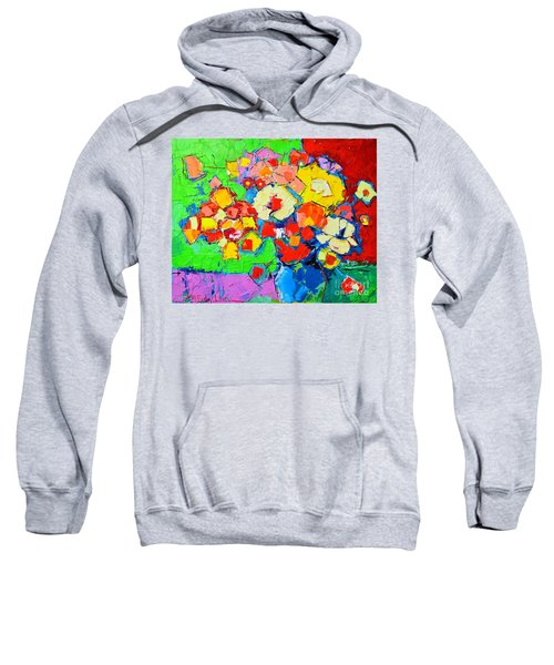 Abstract Colorful Flowers Sweatshirt