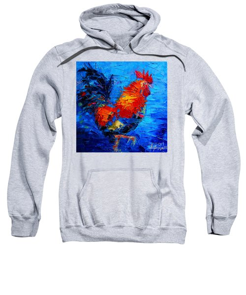 Abstract Colorful Gallic Rooster Sweatshirt