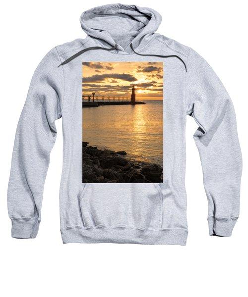 Across The Harbor Sweatshirt by Bill Pevlor