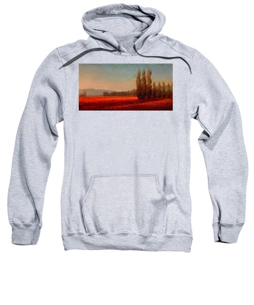 Across The Tulip Field - Horizontal Landscape Sweatshirt