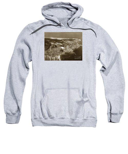 Aerial  Of Monterey Calif. Oct. 25 1934 Sweatshirt