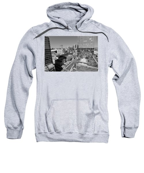 Aerial Photography Downtown Nashville Sweatshirt by Dan Sproul