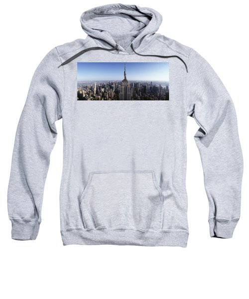 Aerial View Of A Cityscape, Empire Sweatshirt by Panoramic Images