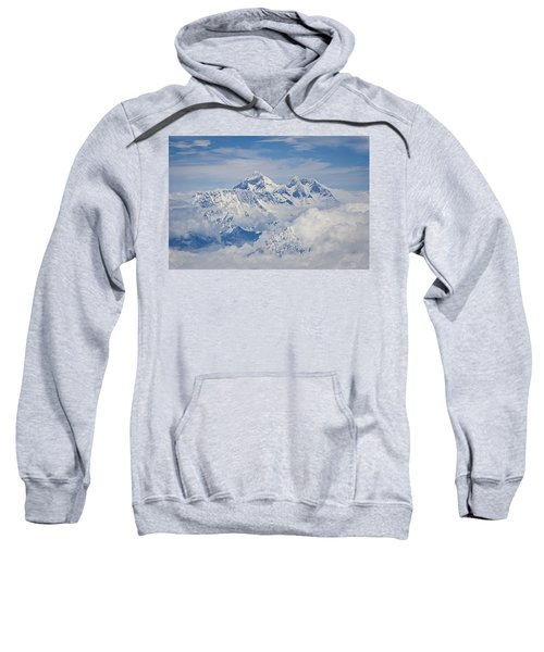 Aerial View Of Mount Everest Sweatshirt by Hitendra SINKAR