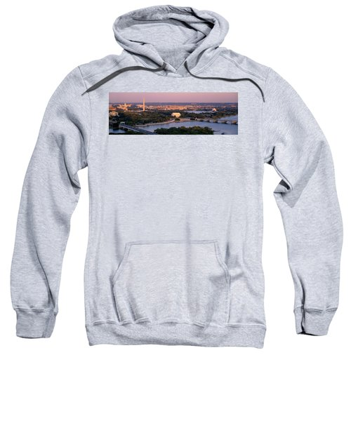 Aerial, Washington Dc, District Of Sweatshirt by Panoramic Images