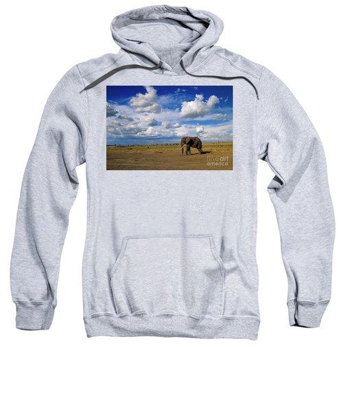 African Elephant Walking Masai Mara Sweatshirt