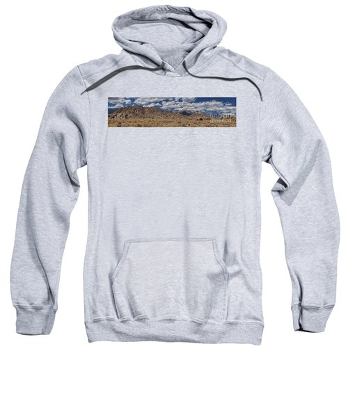 Alabama Hills And Eastern Sierra Nevada Mountains Sweatshirt by Peggy Hughes