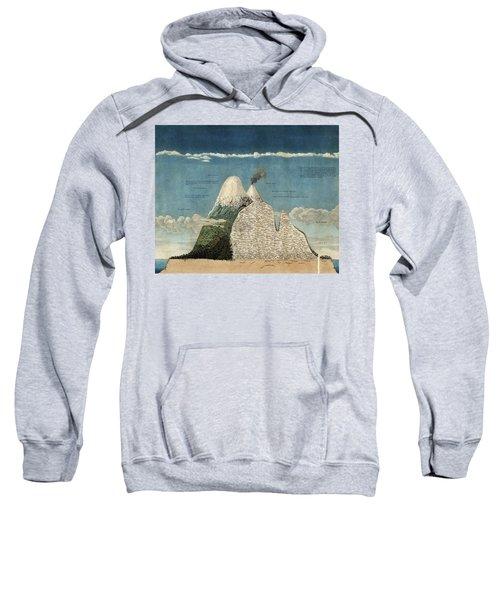 Alexander Von Humboldts Chimborazo Map Sweatshirt