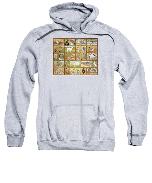 Alphabetical Animals Sweatshirt by Ditz