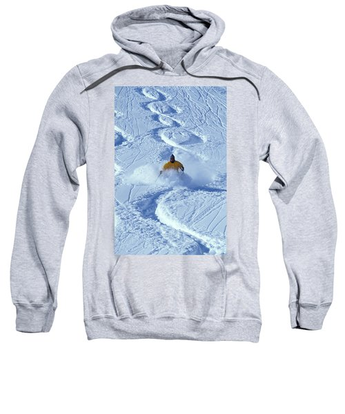 Alpine Skiing In Powder Sweatshirt
