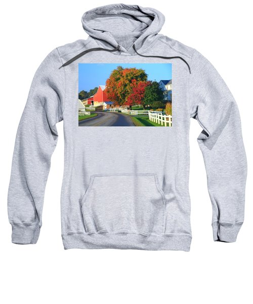 Amish Barn In Autumn Sweatshirt