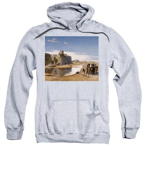 An Arab Caravan Outside A Fortified Town Sweatshirt