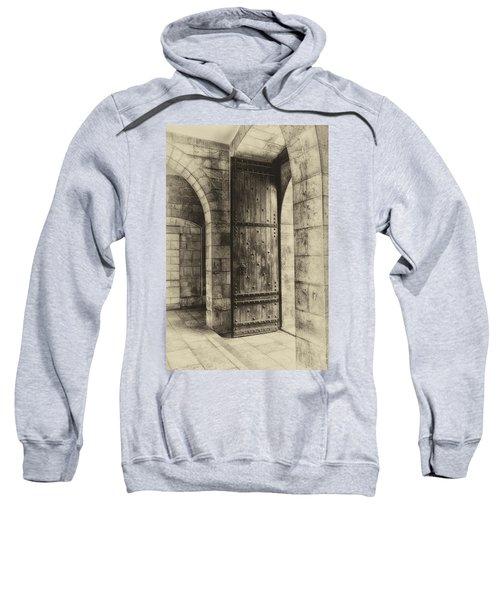 An Open Door  Antiqued Sweatshirt