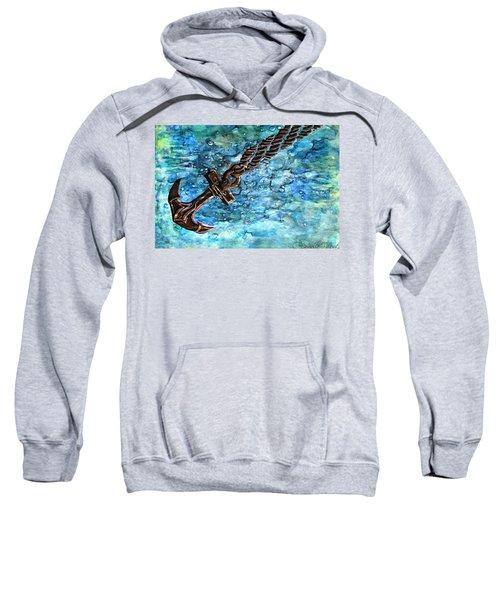 Anchor Under Water Alcohol Inks Sweatshirt