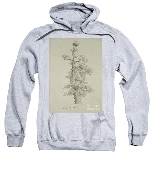 Ancient Oak Tree With A Storks Nest Sweatshirt