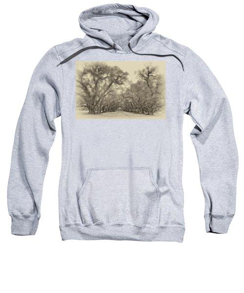 And Time Stood Still Sepia Sweatshirt