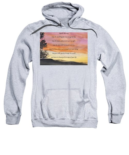 Apache Blessing With Sunset Sweatshirt