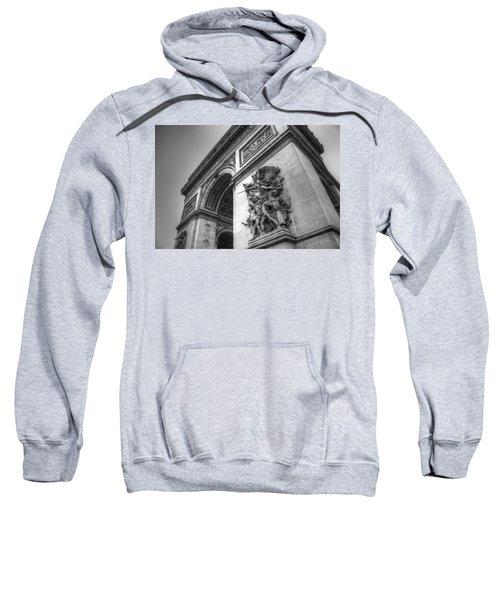 Arc De Triomphe In Black And White Sweatshirt