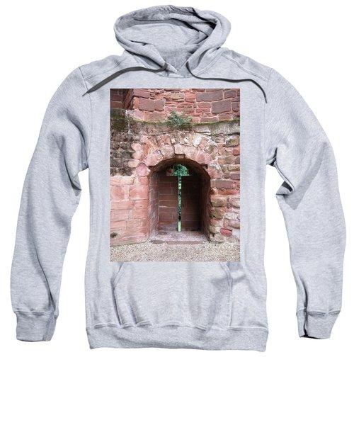 Sweatshirt featuring the photograph Arrow Slit by Denise Railey