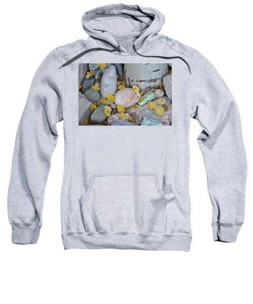 Aspen Leaves On The Rocks Sweatshirt