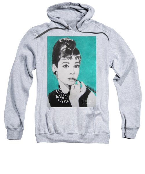 Sweatshirt featuring the painting Audrey by Denise Railey
