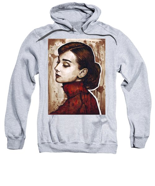 Audrey Hepburn Sweatshirt by Olga Shvartsur