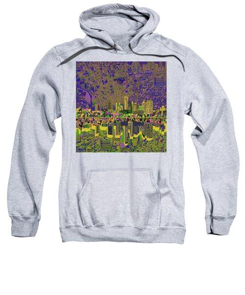 Austin Texas Skyline Sweatshirt by Bekim Art