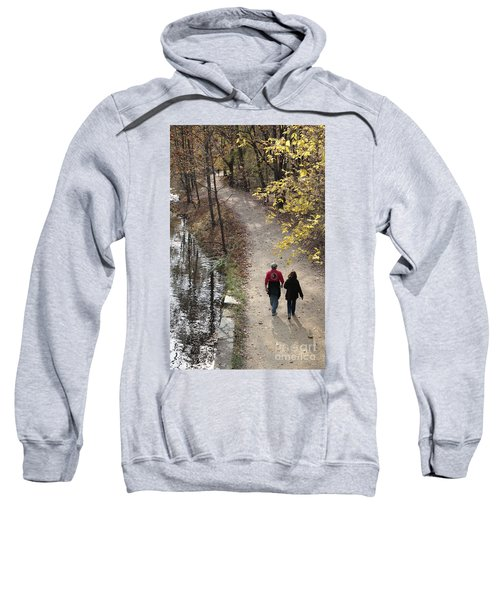 Autumn Walk On The C And O Canal Towpath Sweatshirt
