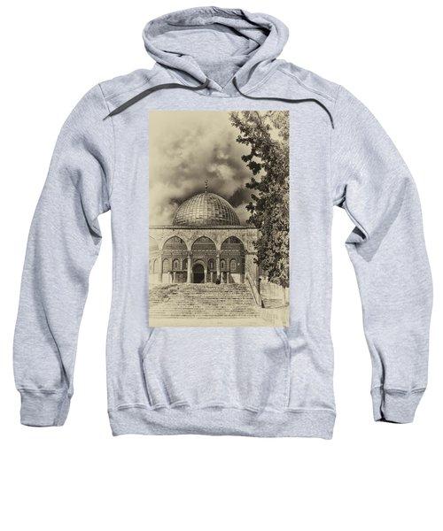 Awaiting The Hour Of Prayer Antiqued Sweatshirt
