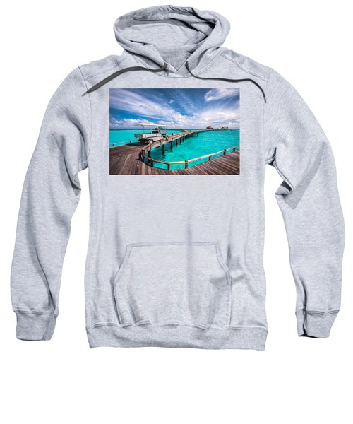 Baggy On The Jetty Over The Blue Lagoon Sweatshirt