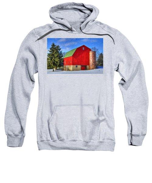 Barn In Winter Sweatshirt