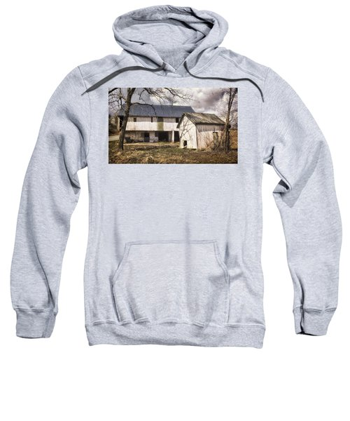 Barn Near Utica Mills Covered Bridge Sweatshirt