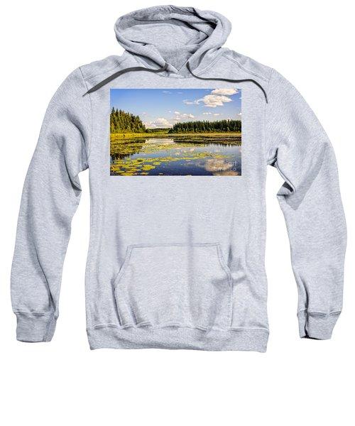 Bay At The Waskesiu Lake With Lily Sweatshirt