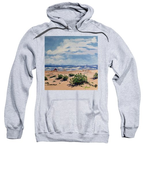 Beach Scene On Galveston Island Sweatshirt