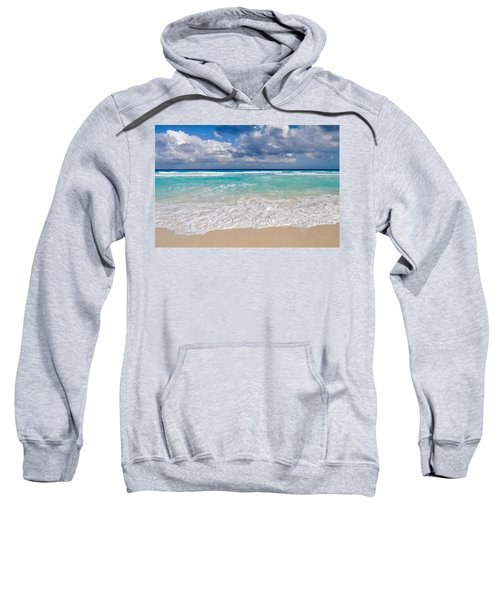 Beautiful Beach Ocean In Cancun Mexico Sweatshirt