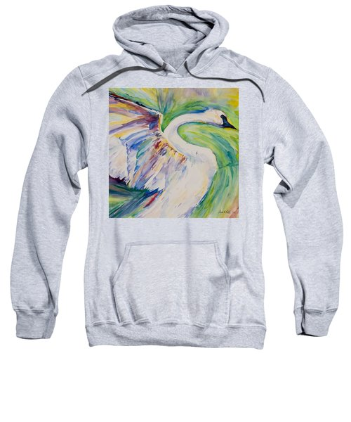 Beauty And Grace - Original Watercolor Painting Sweatshirt