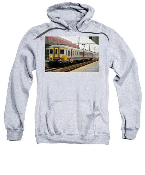 Belgium Railways Commuter Train At Brugge Railway Station Sweatshirt