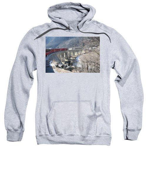 Bernina Express In Winter Sweatshirt