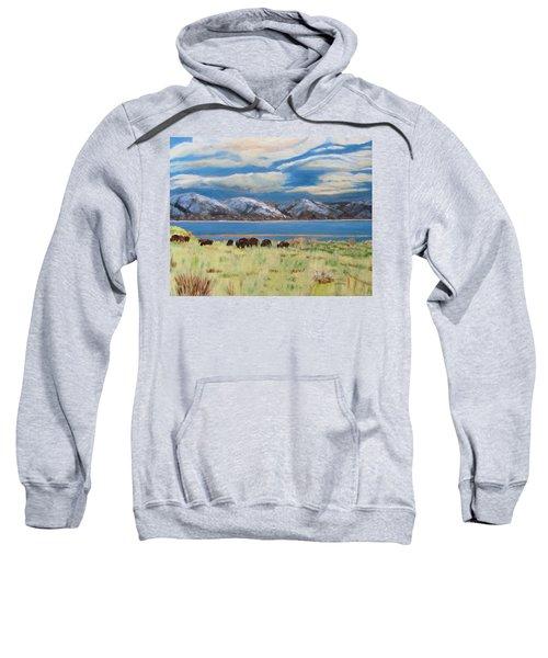 Bison On Antelope Island Sweatshirt