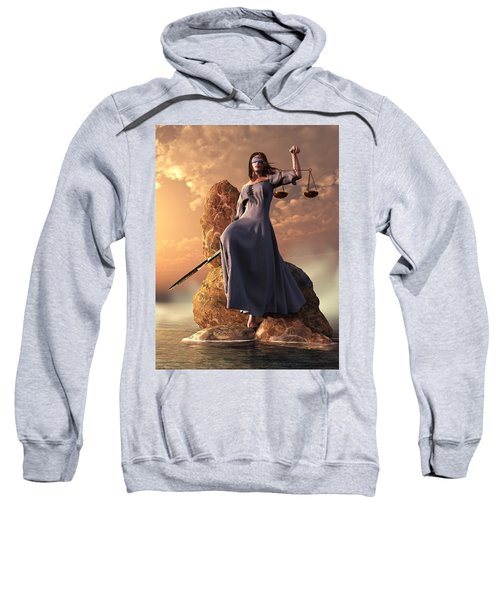 Blind Justice With Scales And Sword Sweatshirt