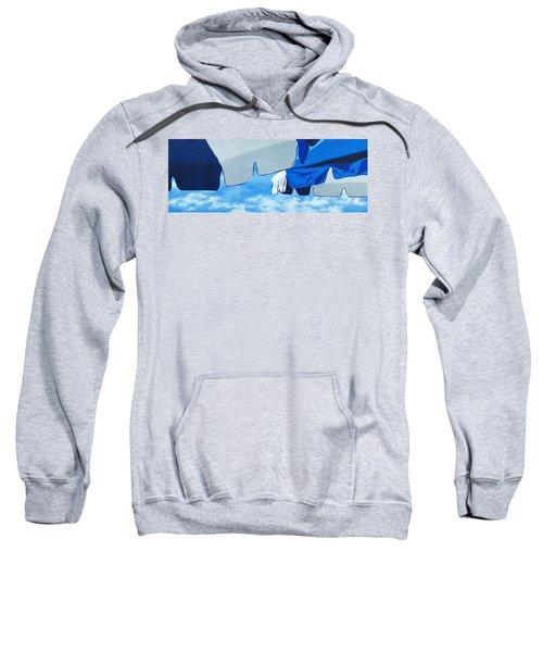 Blue Beach Umbrellas 2 Sweatshirt
